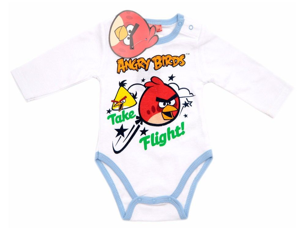Jongens rompertje lange mouw Angry Birds