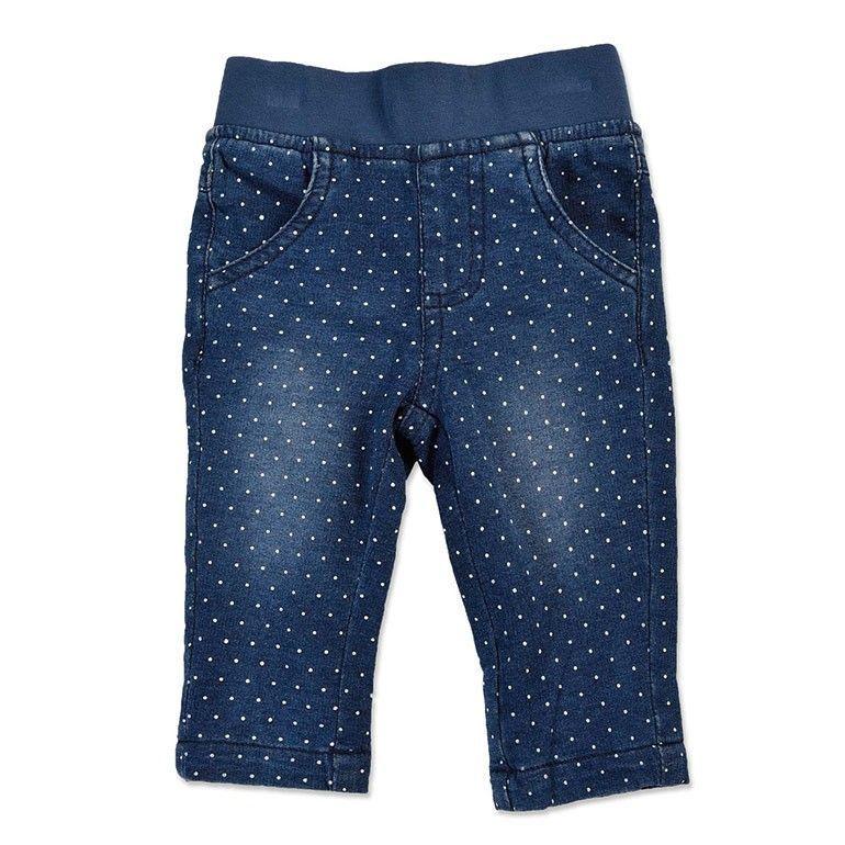Blue Seven baby meisjes broek gestippeld