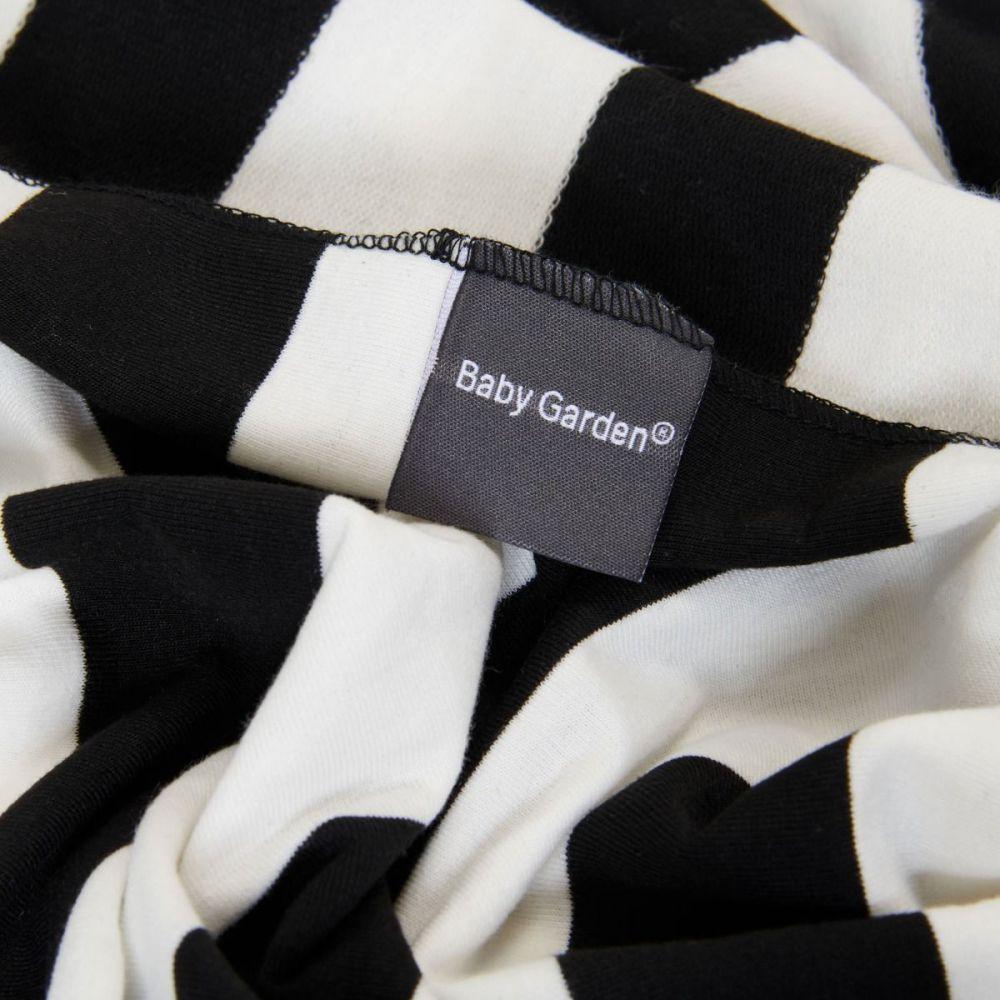 Baby Garden draagdoek gestreept - zwart wit