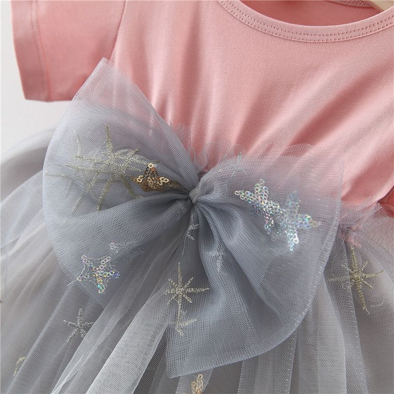 Baby Garden baby jurk wit grijs