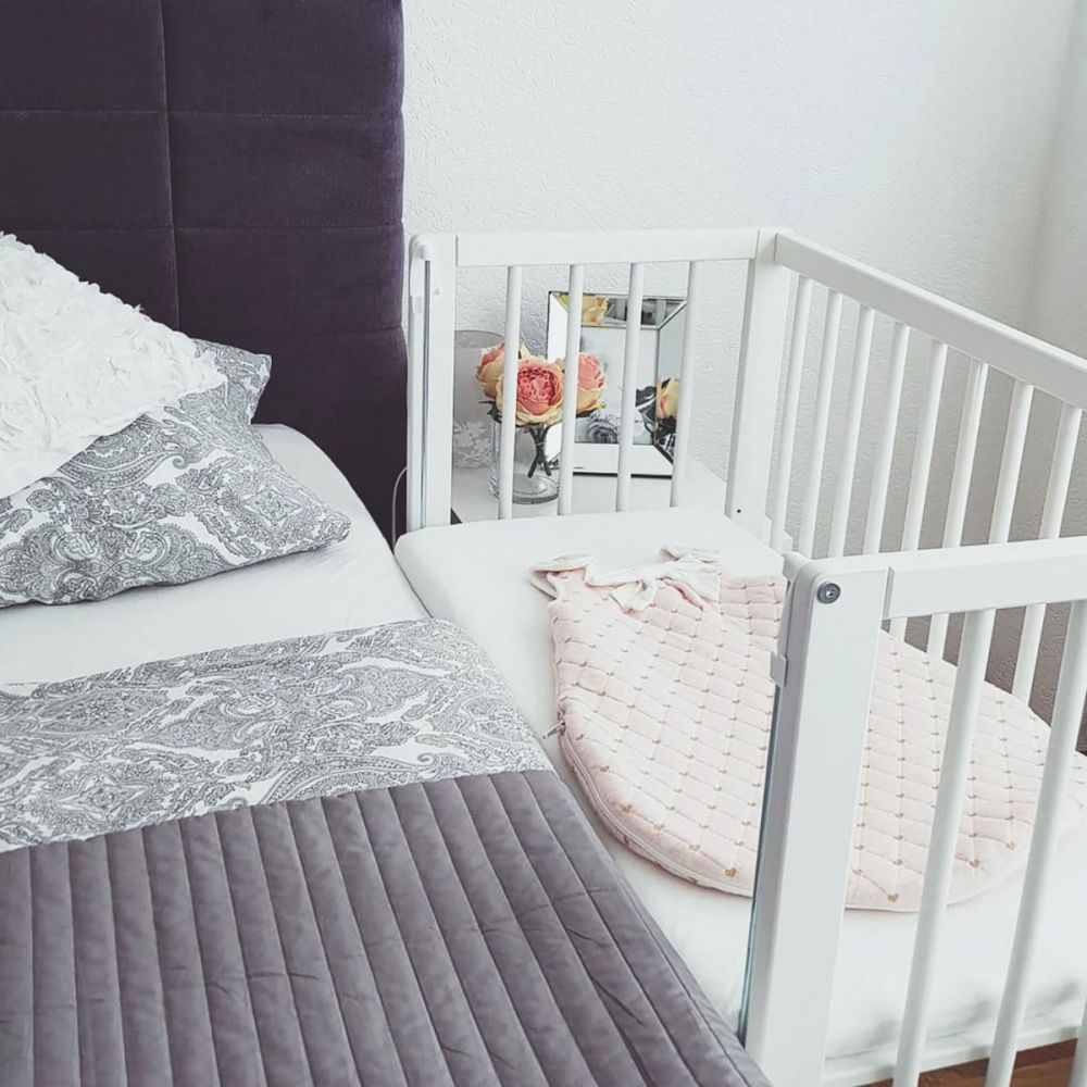 Wieg - Co-sleeper - babybed - 2 in 1 - 90 x 40 cm - incl. matras - Fillikid