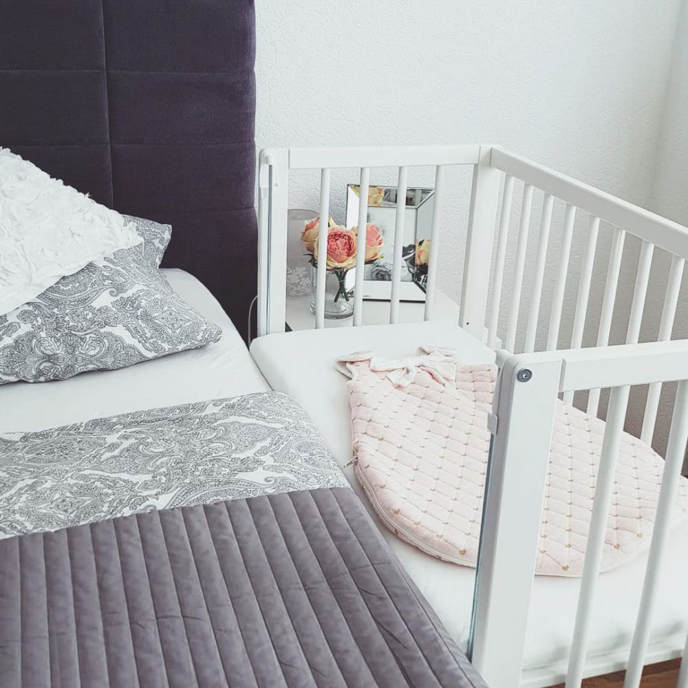 Wieg - Co-sleeper - babybed - 2 in 1 - 90 x 40 cm - incl. matras - Nature - Fillikid
