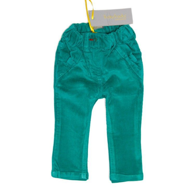 Meisjes corduroy broek green
