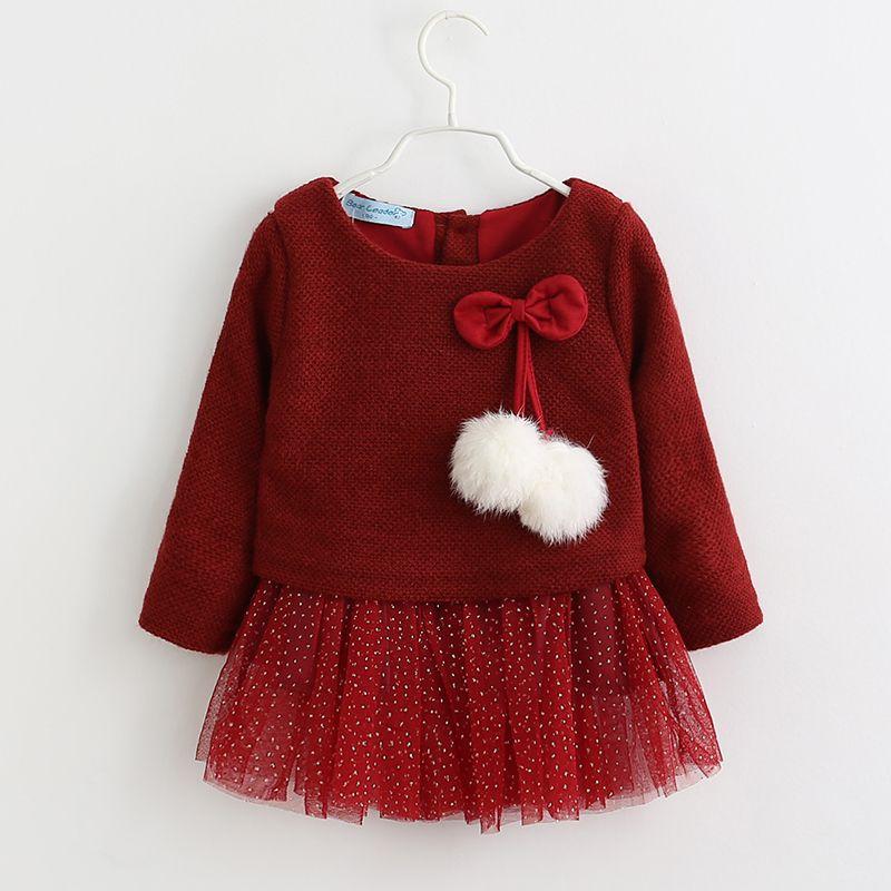 Baby Garden jurk rood van zachte stof