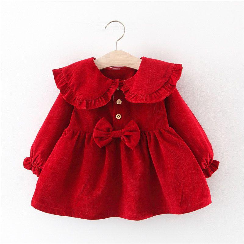 Baby Garden baby jurk rood chique