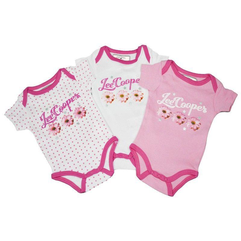 Meisjes rompertjes 3-delige set roze