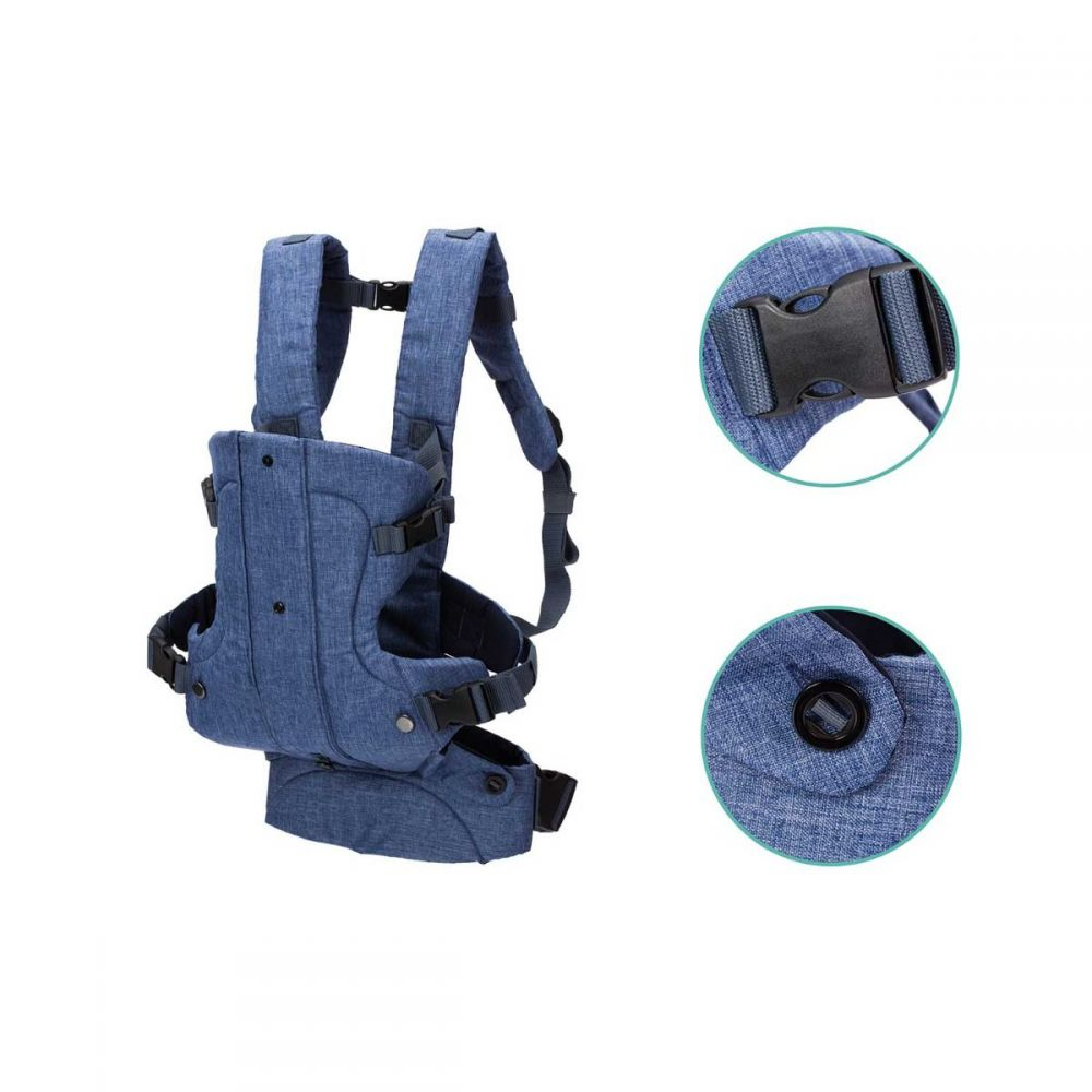 Fillikid baby draagzak 4 in 1 - multifunctioneel - denim blauw