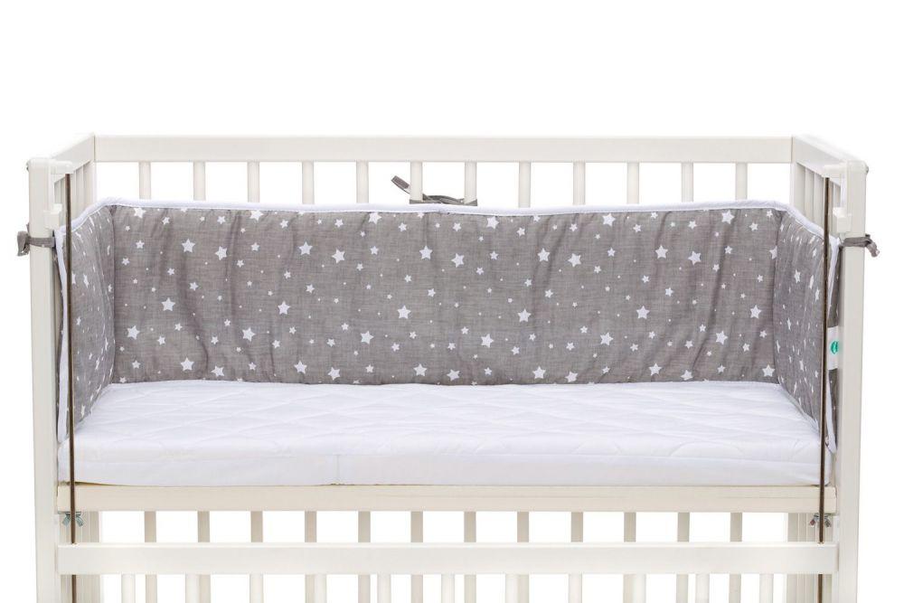 Wieg - Co-sleeper - babybed - 2 in 1 - 90 x 40 cm - incl. matras en bedomrander