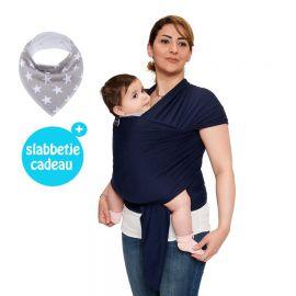 Baby Garden draagdoek donkerblauw - Original - Gratis slabbetje