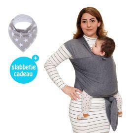 Baby Garden draagdoek grijs - Original - Gratis slabbetje