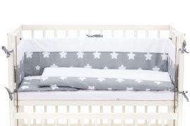 Wieg - Co-sleeper - 2 in 1 - 90 x 40 cm - alles in 1 set - incl. matras, beddengoed en bedomrander - Fillikid